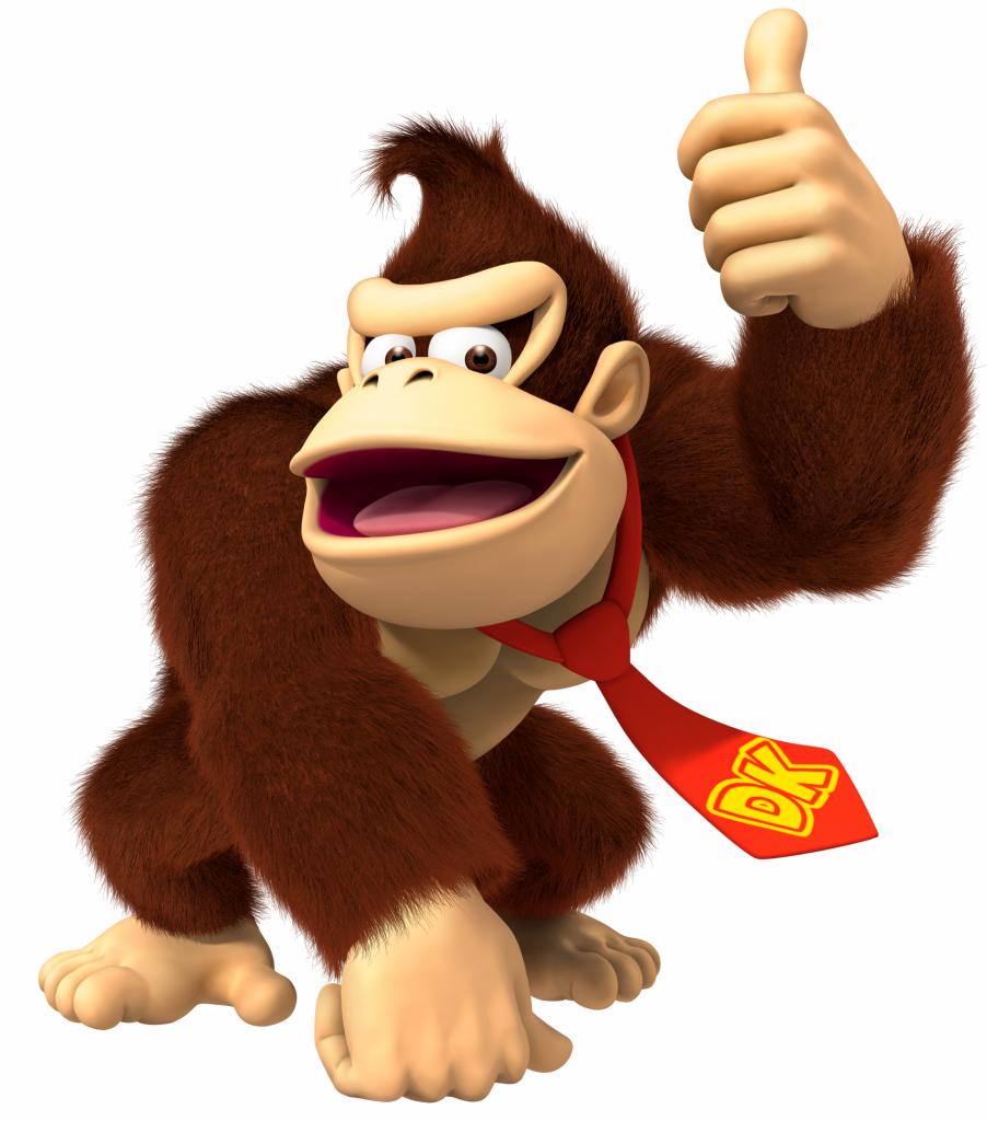 Donkey Kong s palcem nahoře