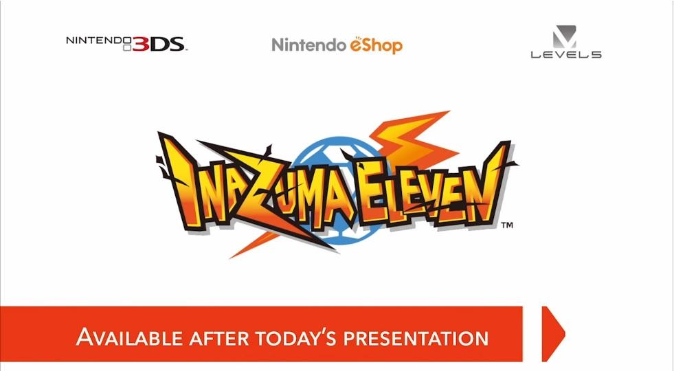 Hra Inazuma Eleven pro Nintendo 3DS