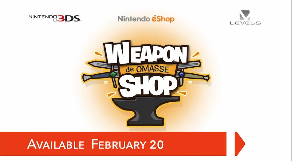 Hra Weapon Shop de Omasse pro Nintendo 3DS