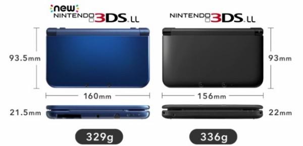 Nové Nintendo 3DS XL - porovnání